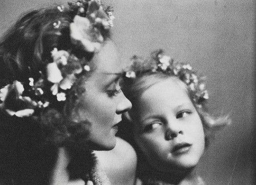 Marlene Dietrich and her daughter Maria Riva, 1930, in a photo taken by director Josef von Sternberg