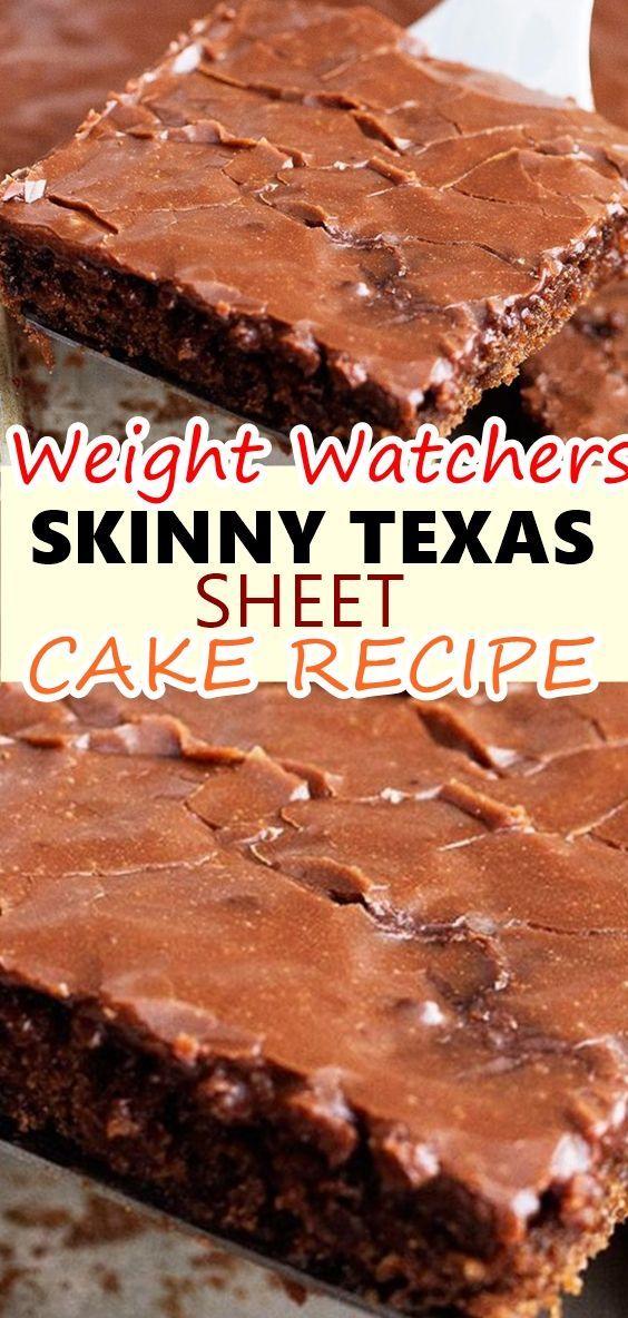 Gewicht Beobachter dünne Texas Sheet Cake Rezept   – Chocolate