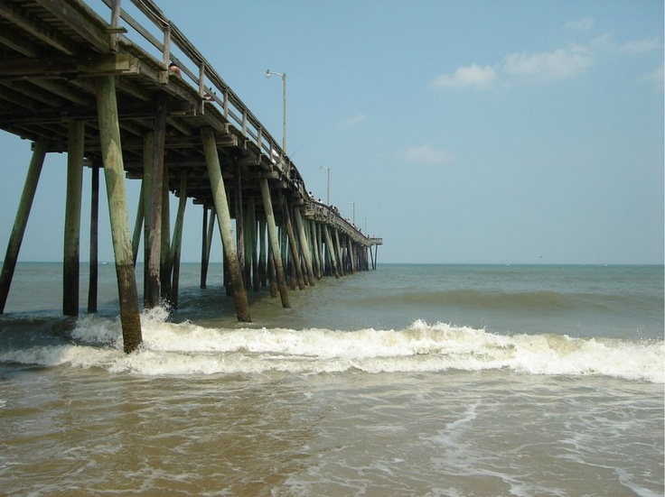 Virginia Beach.....If I'm right, our beach house rental was about 20 ft from the water!