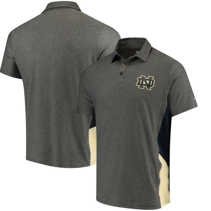 Notre Dame Fighting Irish Colosseum The Bro Polo - Charcoal