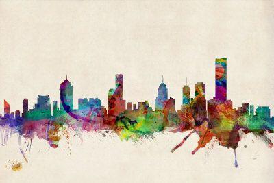 Melbourne Australia Skyline - Michael Tompsett