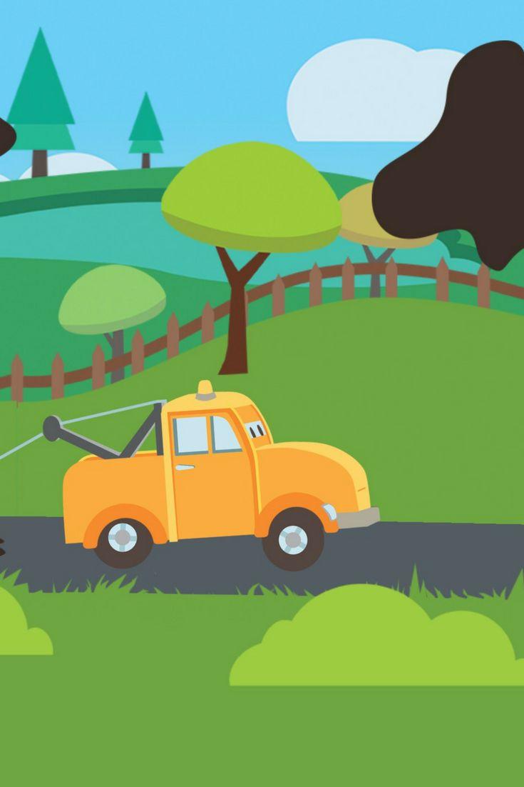 Tom la dépanneuse, une chouette app pour les moins de 5 ans! http://app-enfant.fr/application/joue-avec-tom-la-depanneuse/