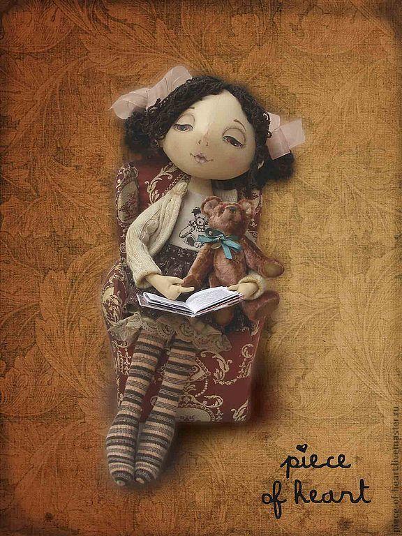 Купить февраль...зимние сказки - грунтованный текстиль, мой календарь, февраль, Сказки, девочка с книжкой