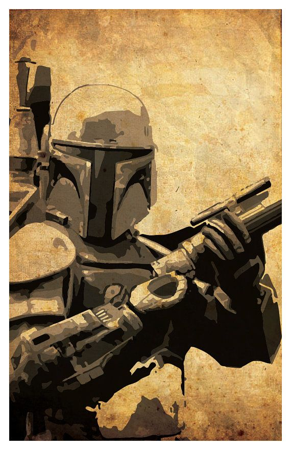 Star Wars poster set Boba Fett Darth Vader by PosterForum on Etsy
