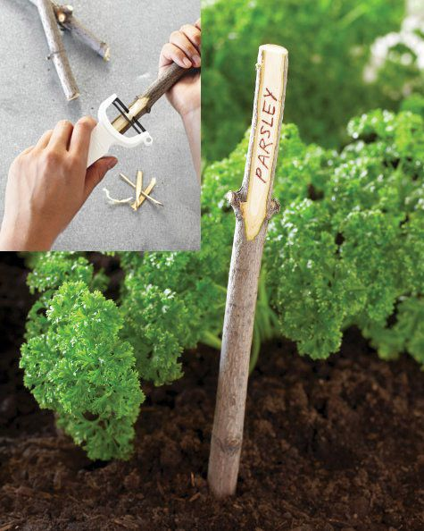 Twig Plant Marker | 26 DIY Plant Markers For Your Springtime Garden
