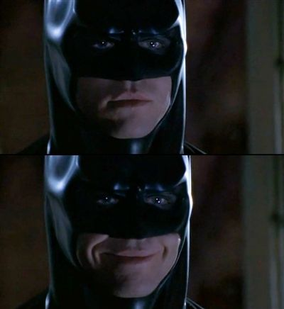 Batman Smiles Blank Meme Template