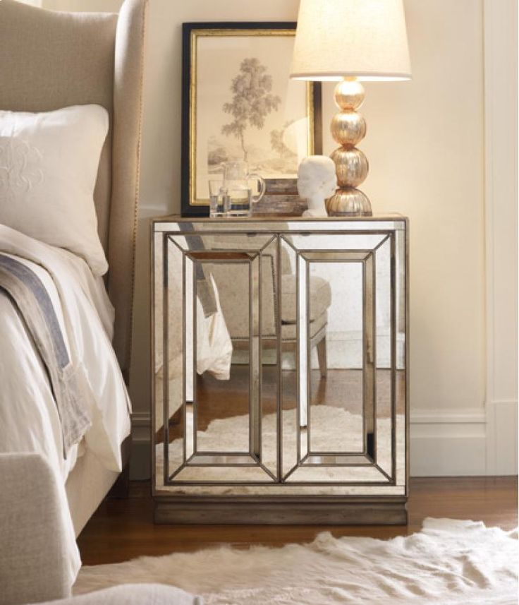 Bedside Stand 10 best mirrored bedside table images on pinterest | mirrored