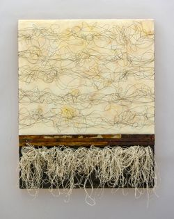 Duality, Kathy Miller paper, encaustic and mixed media