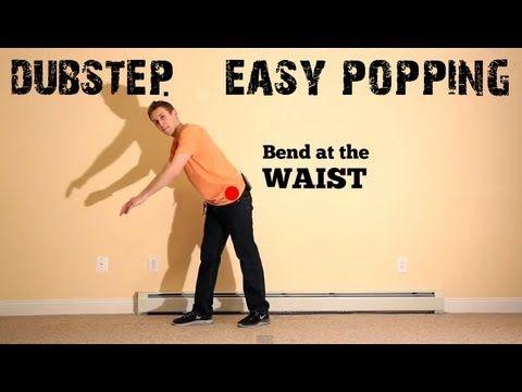 Basic Choreography Tutorial: DUBSTEP music, POPPING dance routine (hip hop?) - YouTube