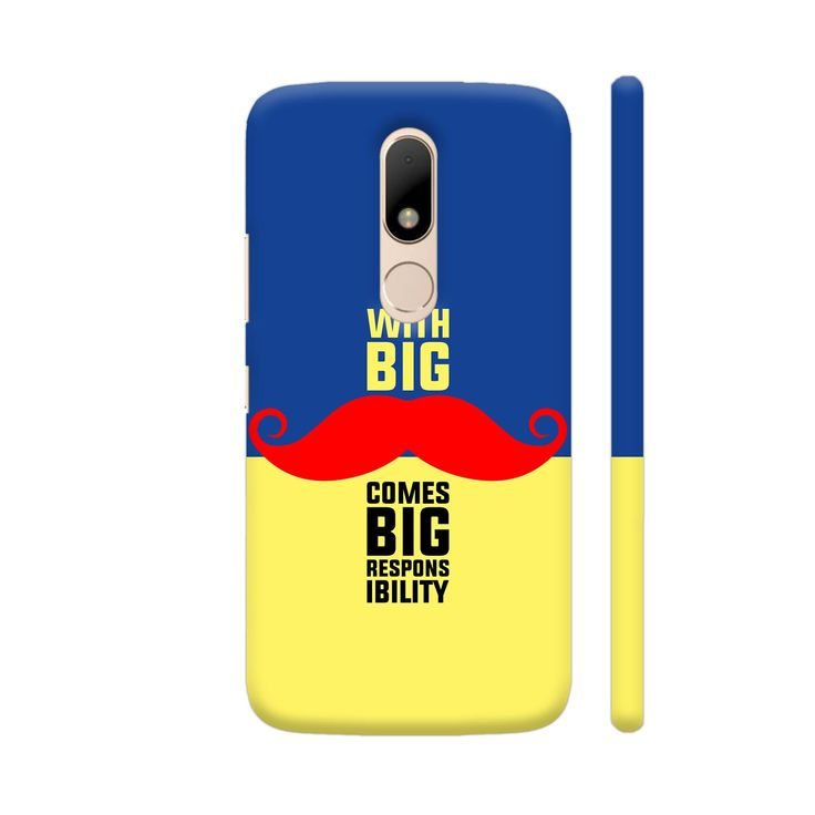 Now available on our store: With Big Moustach.... Check it our here! http://www.colorpur.com/products/with-big-moustache-comes-big-responsibility-in-blue-yellow-motorola-moto-m-case-artist-designer-chennai?utm_campaign=social_autopilot&utm_source=pin&utm_medium=pin