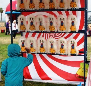 Image result for knock em down carnival game