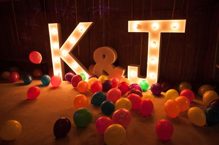 Light Up Letters for Vintage Wedding