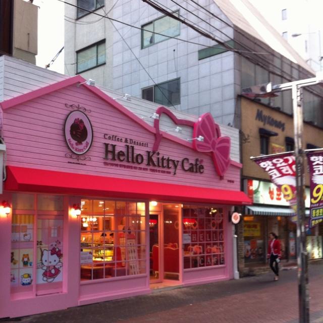 Hello Kitty Cafe Daegu, Korea opened yesterday