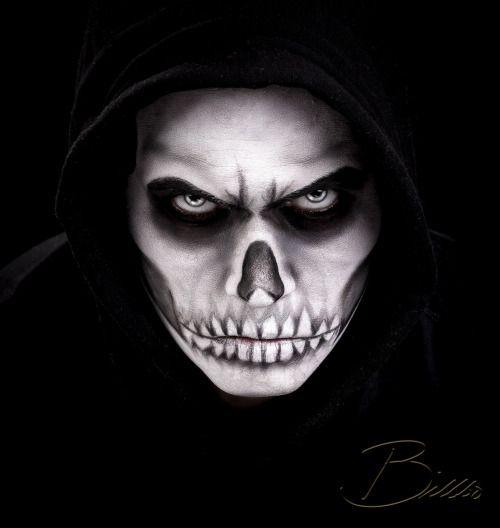 Dark skull makeup by @makeupgeekdelux. www.Billbo.no