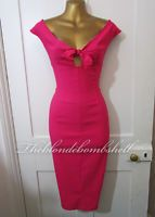 Marilyn Monroe 50s Couture Styl Pink Rockabilly Wiggle Pinup Niagara Dress 14/16