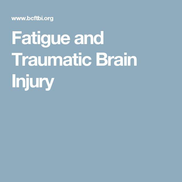 Fatigue and Traumatic Brain Injury