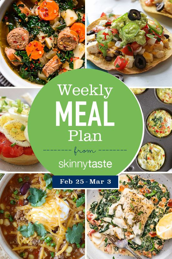 Skinnytaste Meal Plan (February 25-March 3) (Skinnytaste)