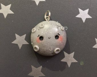 Kawaii Moon and Star Charm Planner Charm Bag Charm by FemininCo