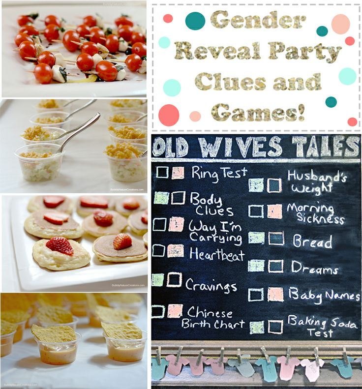 Gender Reveal Party Clues and Game Ideas!