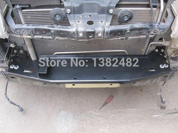 Black Steel Rock Crawler Winch Plate for Factory Front Bumper Winch Mount & Hardware for Suzuki Vitara 4wd 4x4 off road driving