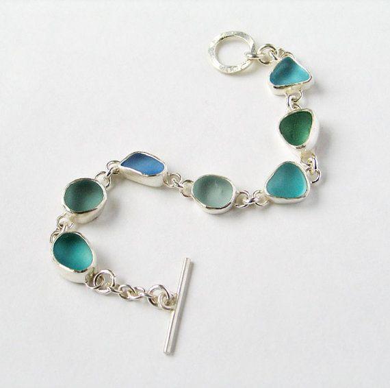 Tiefblaues Meer Glas Armband von BeckyMorgans auf Etsy