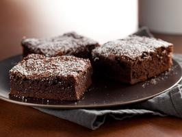 These are amazing brownies, and amazingly quick to make. I just made some. Just now.