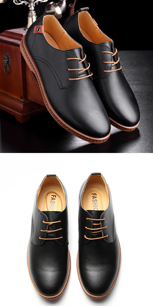 US$29.99 + Free shipping. US Size 7.5-12. Black and Brown. Men Dress Shoes, Men Business Shoes, Men Soft Oxfords Shoes, Men Large Size Shoes, Men Flat Casual Shoes.