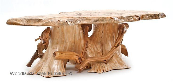 9a81a08534c120fb9872b7c2193d3185 Tree Slab Coffee Table Cedar Log Coffee Table Cabin Cocktail Lodge Rustic