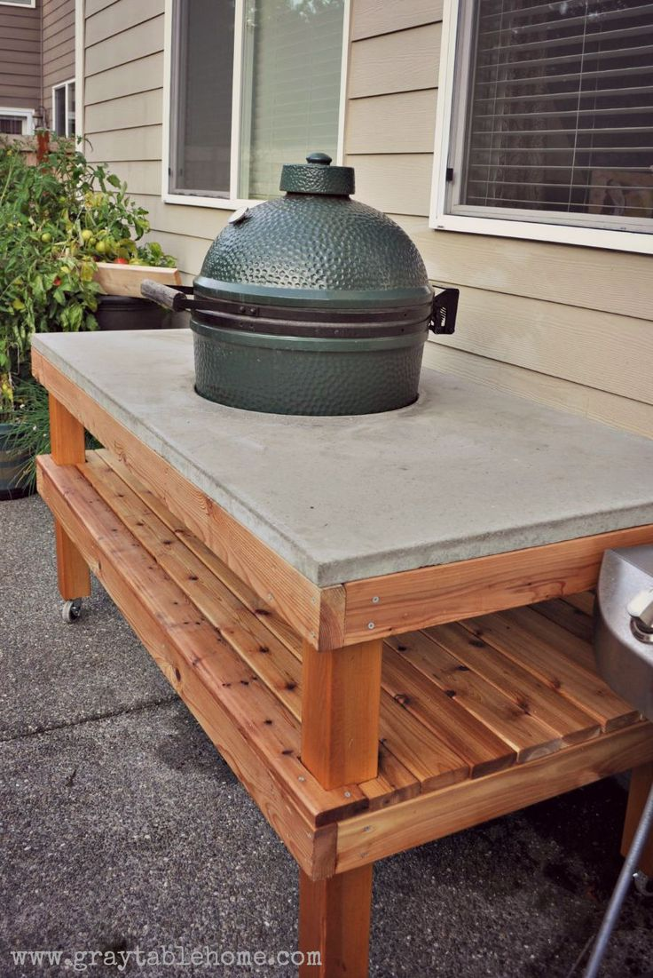 11 Best Kamado Grill Table Images On Pinterest Big Green