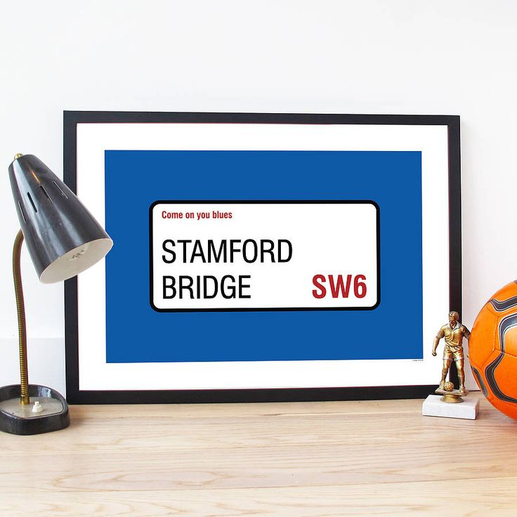 Personalised Football Team Poster from notonthehighstreet.com