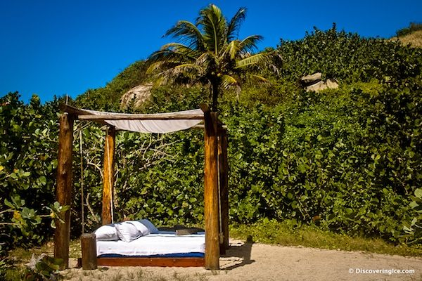 Amazing outdoor bed at Tayrona National Natural Park, Colombia #travel #paradise