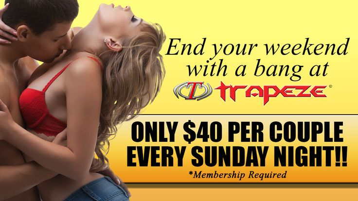 Trapeze, the nation's #1 swingers club in the nation, is hailed by couples and singles as the sexiest venue of its kind. Dozens of swingers clubs have tried to emulate us but none have been successful.