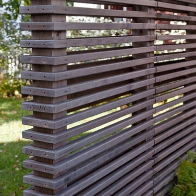 358 best modern fence images on pinterest facades decks for Wood screen fence