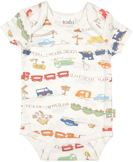 Toshi Boy's Short Sleeve Onesie Transit