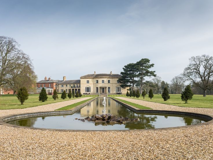 Stubton Hall in Newark, Nottinghamshire is a stunning venue! Claire & Ben- Image by Ian Worth Photography #wedding #venue #nottingham #grand #posh #pond