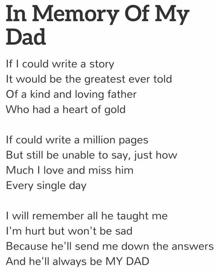 This is beautiful, which it was around 8yrs ago for my DAD xx
