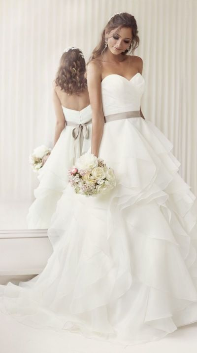 Fun, flirty wedding dress with swarovski crystal and diamantés beading