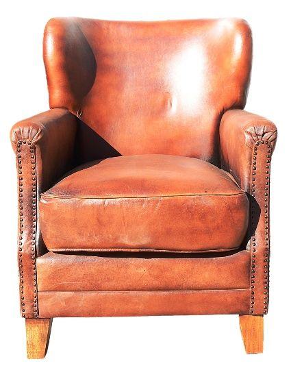 Leather Chair - Boyd Blue