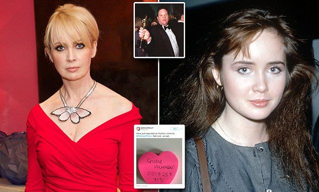 English actress Lysette Anthony says Harvey Weinstein raped her