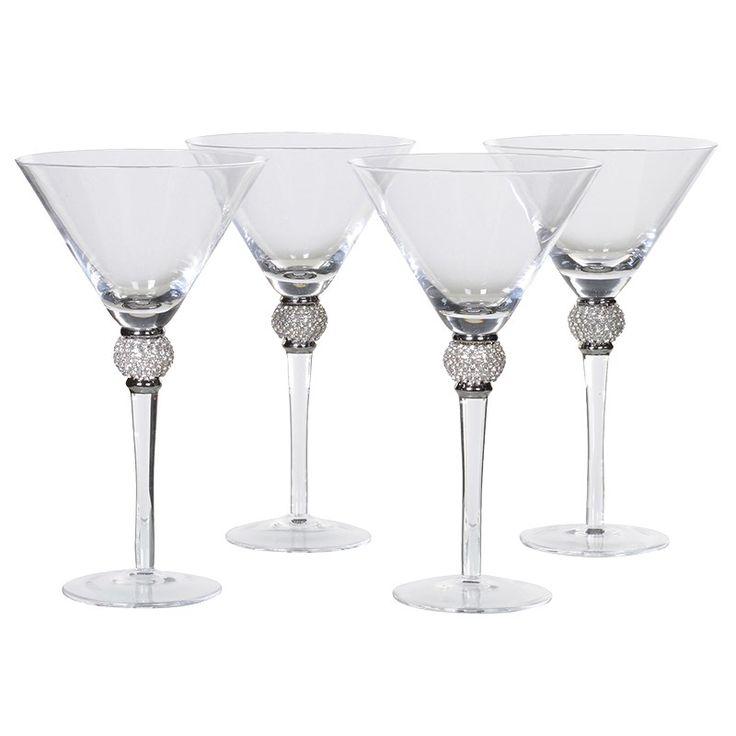 Set of 4 Crystal Silver Diamant? White Wine Glasses  http://www.burrowandhide.com/glassware/set-of-4-silver-diamant-glasses-w5y9mmartini-jreg9
