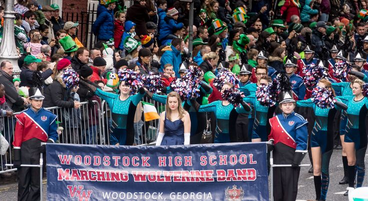 WOODSTOCK HIGH SCHOOL MARCHING WOLVERINE BAND - ST. PATRICK'S DAY PARAGE