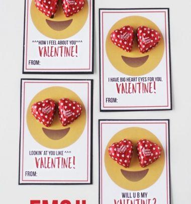 Love emoji cards with chocolate hearts - Valentine's day gift // Szerelmes emoji képeslapok szív csokival - kreatív ajándék ötlet // Mindy - craft tutorial collection // #crafts #DIY #craftTutorial #tutorial