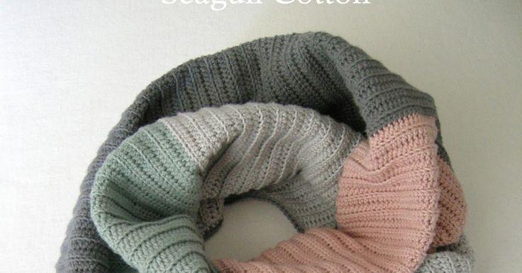 MyUpperPenthouse: 'Seagull Cotton' sjal/tørklæde - dansk opskrift
