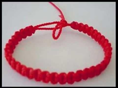 556b1bd6a2b0 Como hacer una pulsera hilo rojo sol Kit 23334 - YouTube ...