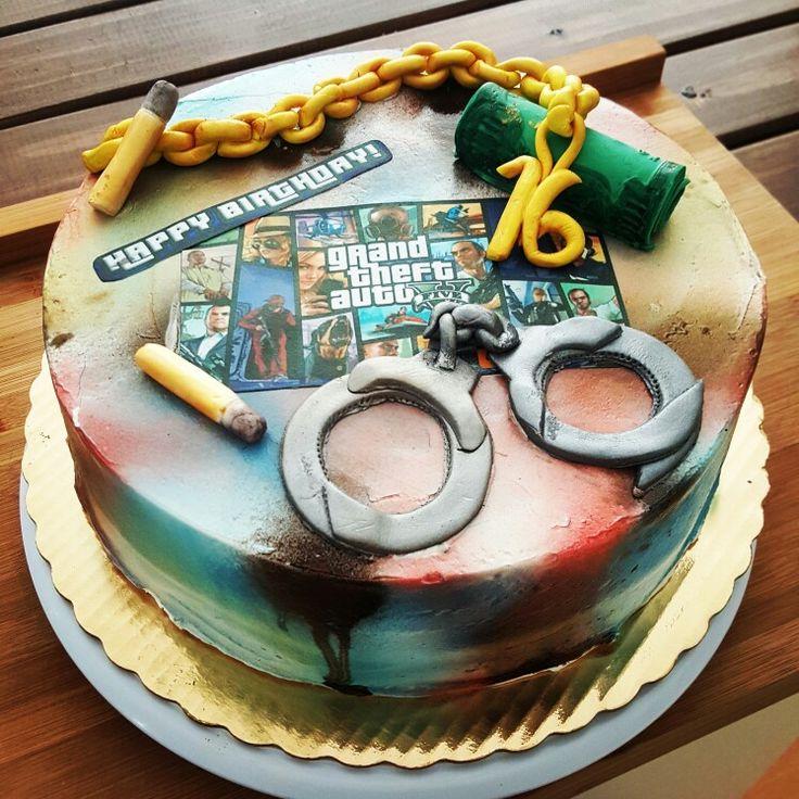 Auto Theft Cake