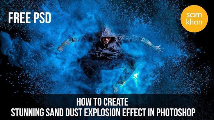 Photoshop Tutorials | How to create Stunning Sand Dust Explosion in Phot...