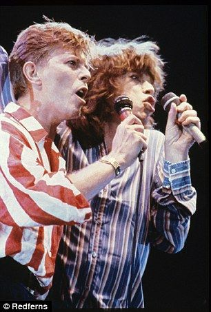 She claims that once she slept with Bowie (left) and his close friend Mick Jagger (right) ...