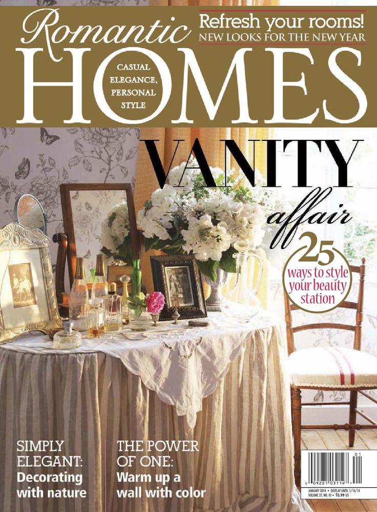 Romantic Homes 201401  Romantic Homes magazin