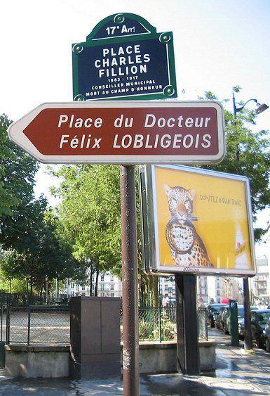 La place Charles-Fillion (Paris 17ème).