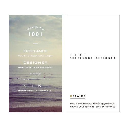 KIKI_Name Card | Beauty salon graphic design ideas | Follow us on https://www.facebook.com/TracksGroup |  美容室 デザイン カード 名刺